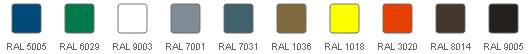 Kolor standardowa - paleta RAL